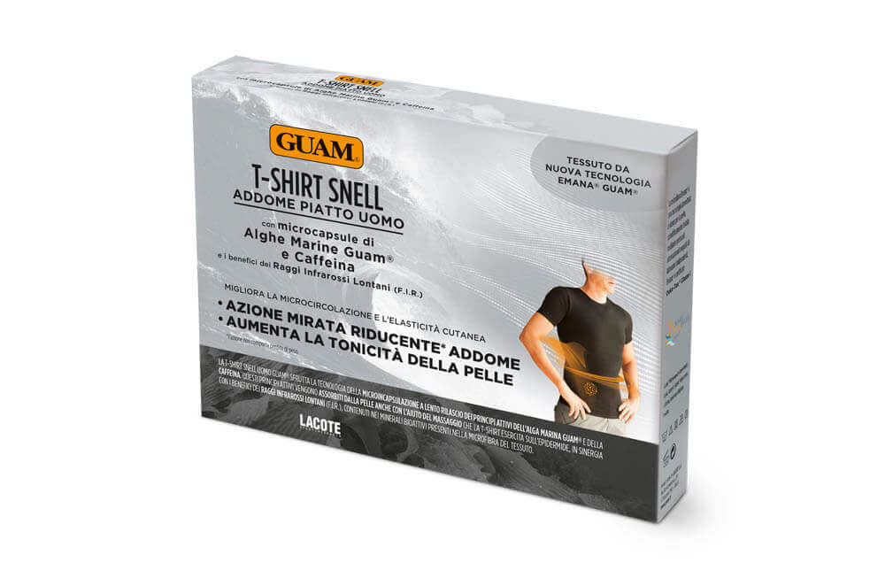 Moska majica s kratkimi rokavi iz morskih alg Guam RESHAPE and SLIMMING za zmanjsanje mascobnih oblog in preoblikovanje trebuha